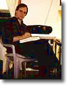 Chris Floyd at his desk